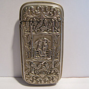 A Rare Antique Matchsafe, Kate Greenaway Motif, CA.1890