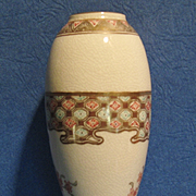 A Fine Satsuma Cabinet Vase, Signed, CA.1910