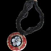 SALE Vintage Gerda Lynggaard Monies Black Coral Torsade Necklace..with Inlaid Organic Elements
