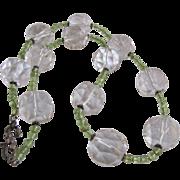SALE Vintage Appraised $1285 Sterling Silver Gemstone Facetted 20mm Rock Crystal Quartz and ..