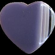 SALE Mid Century Pop Art Lucite Laminated Lavender Heart Brooch