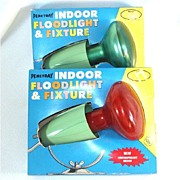 Penetray Christmas Floodlight With Fixture in Original Box, Red or Green
