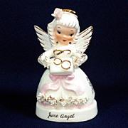 Napco June Angel of the Month Birthday Figurine
