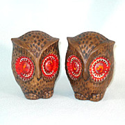 Treasure Craft Big Eyed Owl Salt and Pepper Shakers