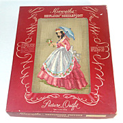 SOLD 1941 Hiawatha Southern Belle Lady Boxed Needlepoint Kit