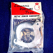 Junior Police Handcuffs 1950s Japan Toy Mint in Package