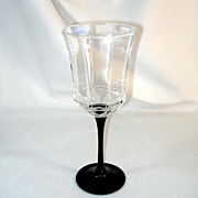 Octime Luminarc France Black Stemmed Water Goblet, 3 Available