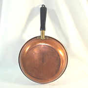 Revere Copper 8 Inch Skillet Wood Handle 1930s