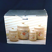 International Marmalade Country Geese Canister Set in Original Box