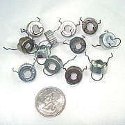 12 Small Replacement Metal Christmas Ornament Caps
