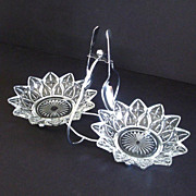 Petal by Federal Glass and Chrome Double Relish Jelly Server