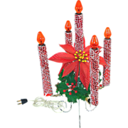 Mirostar Mesh 5 Light Christmas Electric Candle Centerpiece