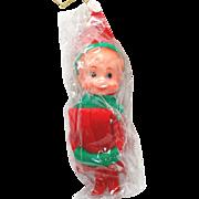 1960s Japan Christmas Knee Hugger Pixie Elf Mint in Package