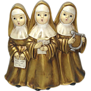 SOLD Singing Nuns 1960s Music Box Figurine Plays Dominique