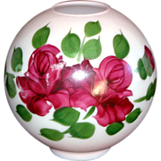 SOLD Maroon Roses Globe Lamp Shade Gone With The Wind Style