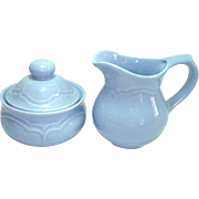 Pfaltzgraff Blue Gazebo Creamer and Sugar