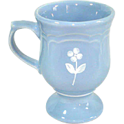 Pfaltzgraff Gazebo Blue Bouquet Pedestal Mug, 10 Available