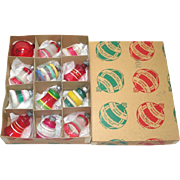 SOLD Box WWII Premier Shiny Brite Unsilvered Christmas War Ornaments