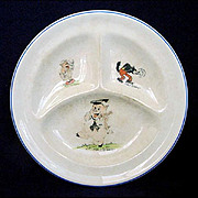 Walt Disney 3 Pigs 1930s Divided Childs Feeding Plate