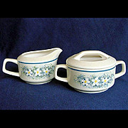 Lenox Dewdrops Creamer and Covered Sugar Set