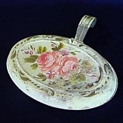 Pink Roses on Pale Green Shabby Tole Silent Butler