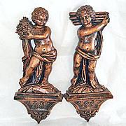 Coppercraft Guild Bronze Copper Plastic Cherub Wall Plaques
