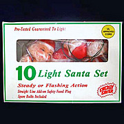 Santa Claus Christmas Tree Light Set in Original Box