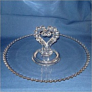 Imperial Candlewick Center Handled 12 Inch Pastry Serving Tray