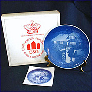 SALE Bing Grondahl 1973 Country Christmas Plate With Box