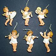 Germany Barefoot Angels Plastic Christmas Ornaments