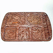 Chocolate Brown Confetti Speckle Melmac School Lunch Tray
