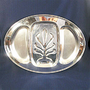 Massive Oneida Silverplate Meat Platter