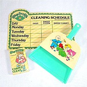 Cabbage Patch Kids Toy Dust Pan And Cleaning Items