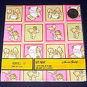 Kewpies 1973 Gift Wrap Sealed Package