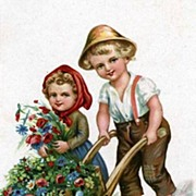 """""""Children with Flowers""""  (1950')"""