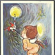 """""""Santa teases Cupid"""" (1960)"""