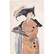 """""""Woman in Hat with Feather""""  (1914)"""