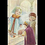 """""""Children in Orthodox Gowns""""  (1911)"""