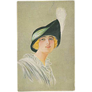 """""""Woman in Hat with white Feather"""""""