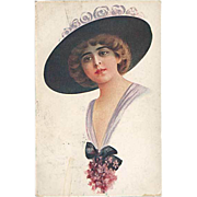 """""""Lady in Hat with Flowers""""  (1919)"""