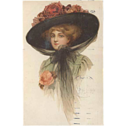 "SOLD ""Lady in Hat with Roses""  (1912)"