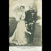 "SOLD ""Queen Wilhelmina of Netherlands and Prince Consort""  (1910')"