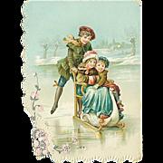 """Skating on Ice""  (1910')"