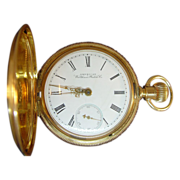 Well Preserved 14 Karat Yellow Gold Waltham Watch Company Pocket Watch