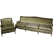 1960's French Style Sofa & Chair