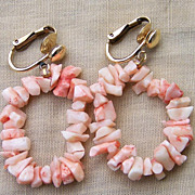 Angel Skin Branch Coral 14KGF Clip Earrings