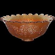 Fenton Orange Tree Carnival Glass Punch Bowl Marigold Early