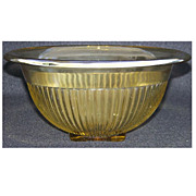 Federal Glass Golden Glo Ribbed Mixing Bowl