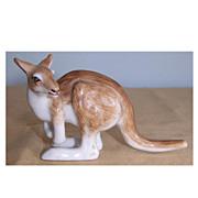 Miniature Hand Painted Porcelain Kangaroo Figurine