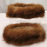 Vintage Mink Fur Snap-On Sleeve Cuff Accents